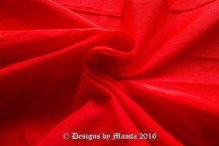 Crimson Red Art Silk Fabric