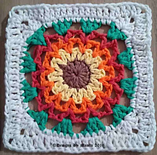 Crochet Afghan Square Block Pattern