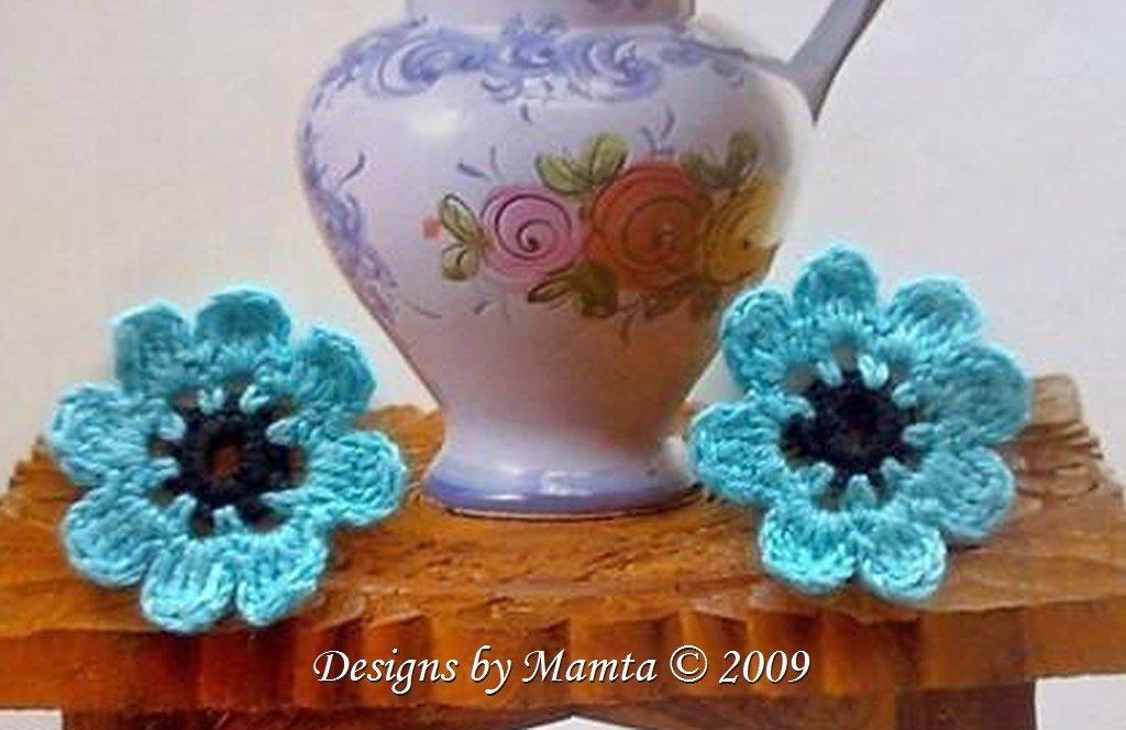 Five Petal Crochet Flower Pattern Cool Crochet Patterns By Mamta