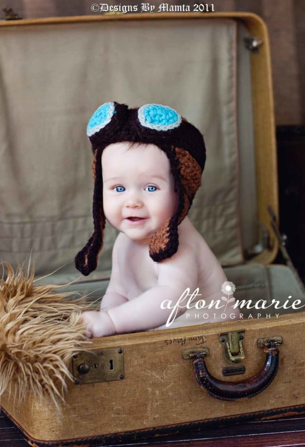 Crochet Baby Bomber Hat Pattern