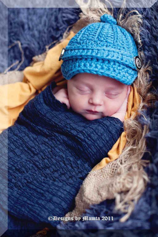 Crochet Newsboy Hat Pattern For Newborn Babies Children