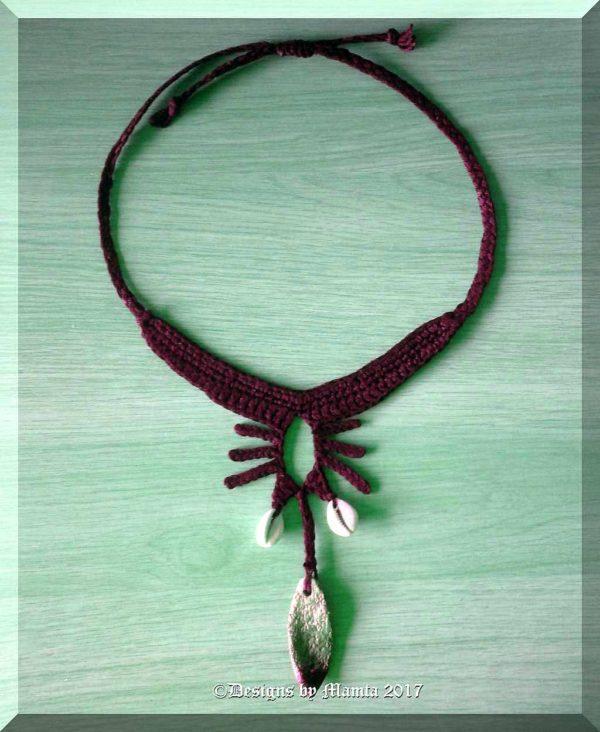 Crochet Bohemian Necklace Pattern