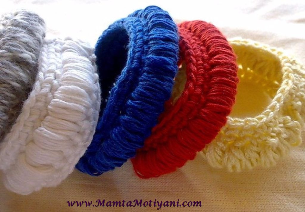Crochet Tyre Bangle Bracelet Pattern Easy Crochet Jewelry Patterns
