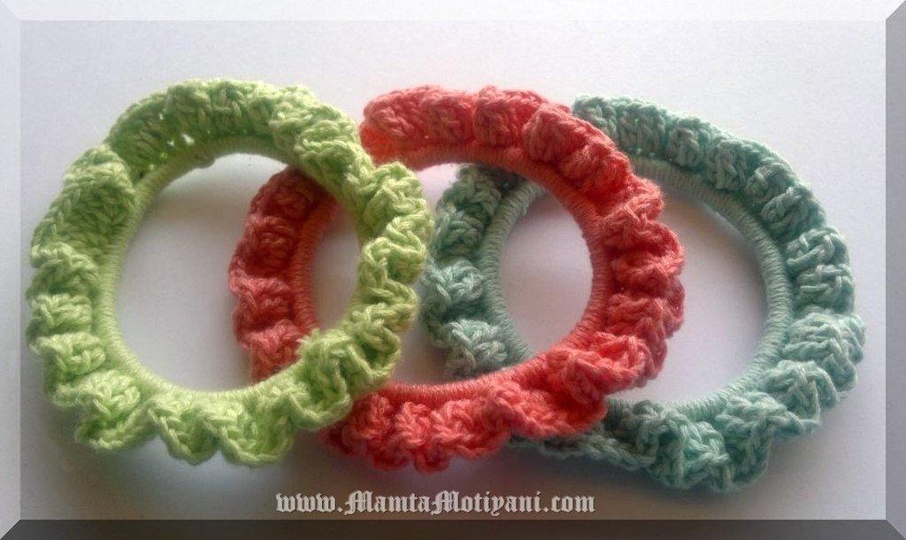 Frilly Stacking Crochet Bracelet Pattern Easy Crochet Bangle Patterns