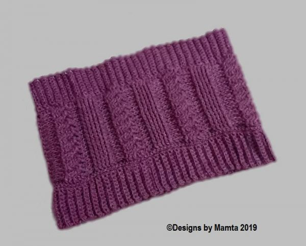 Crochet Braided Cowl Pattern