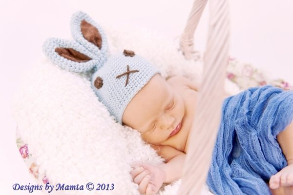 Crochet Bunny Hat With Ears Pattern