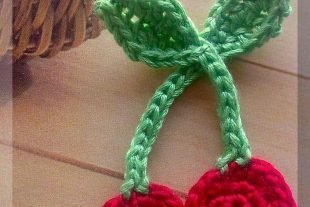 Crochet Cherries Applique Pattern