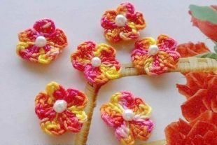 Crochet Cherry Blossoms Flowers