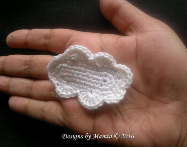 Crochet Cloud Applique Pattern