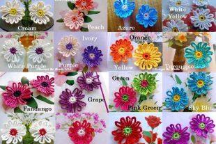Crochet Daisy Flower Appliques