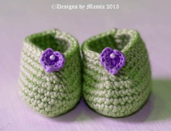 Crochet Designer Baby Shoes
