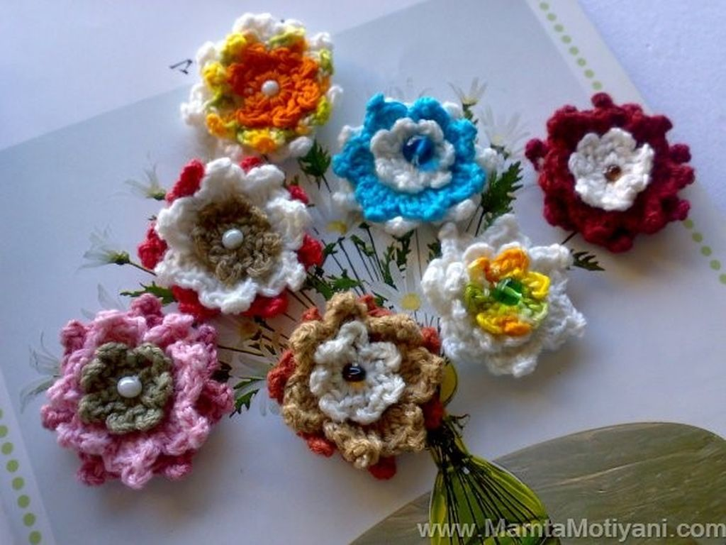 Crochet Flower Pattern A Million Lotuses Christmas Crochet Ornaments