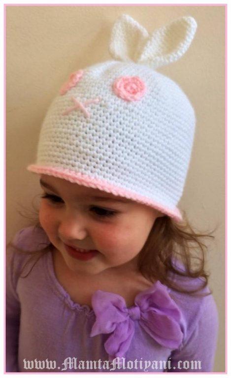 Crochet Bunny Hat Pattern Simple Decoration
