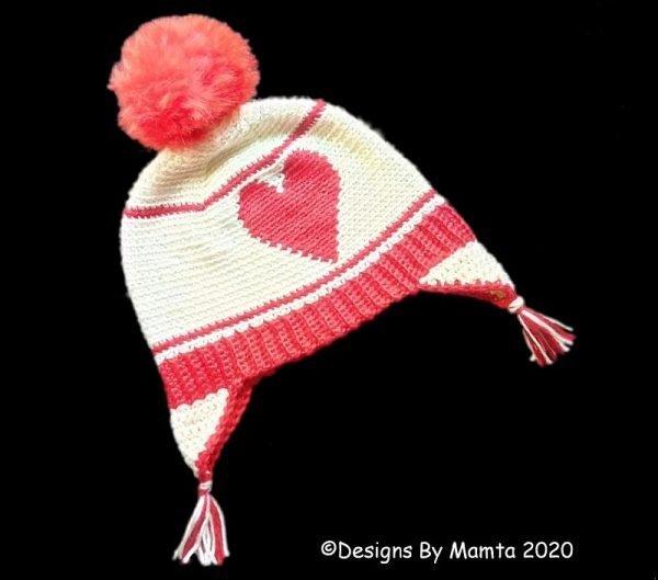 Crochet Heart Hat Pattern