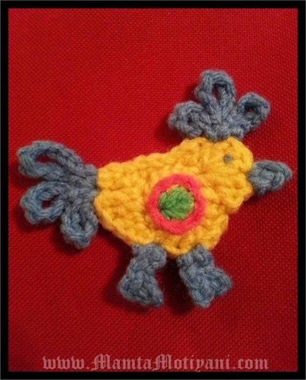 Crochet Hen Applique Pattern