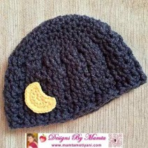 Crochet Moon Applique Pattern