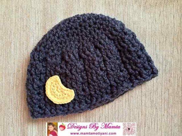 Crochet Moon Applique Pattern