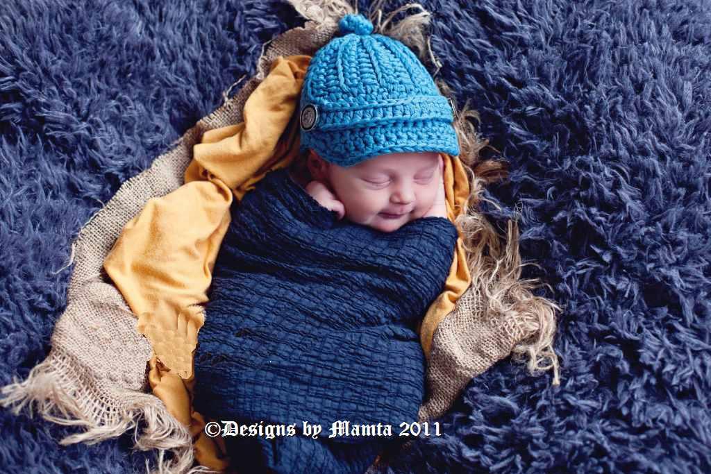 Crochet Newsboy Hat Pattern For Newborn Babies & Children