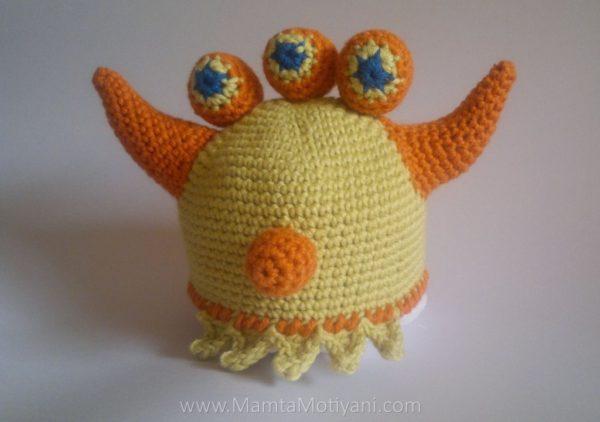 Crochet Ogre Monster Hat Pattern