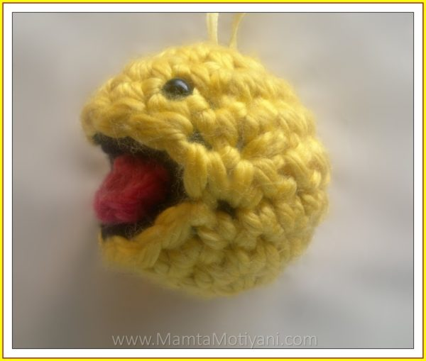 Crochet Pacman Amigurumi Toy Pattern