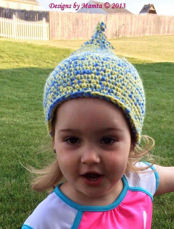Crochet Pixie Beanie Pattern | Easy Fairy Gnome Hat Pattern For Children