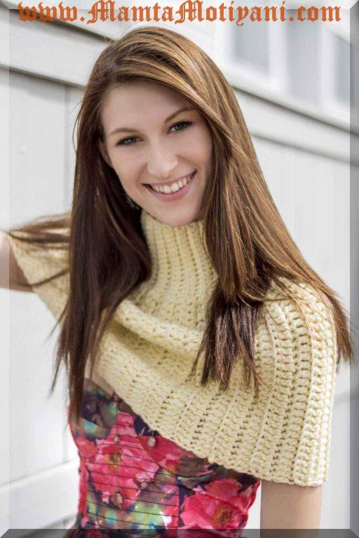 Crochet Poncho Pattern An Easy Designer Turtleneck Capelet