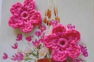 Crochet Rose Flowers Appliques