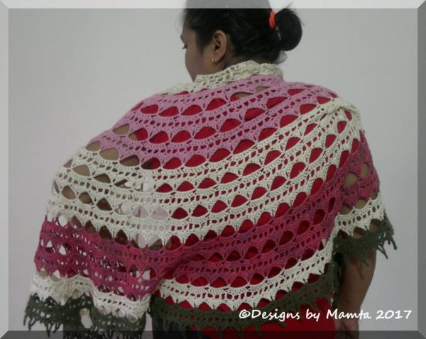 Crochet Semi Circle Shawl Pattern