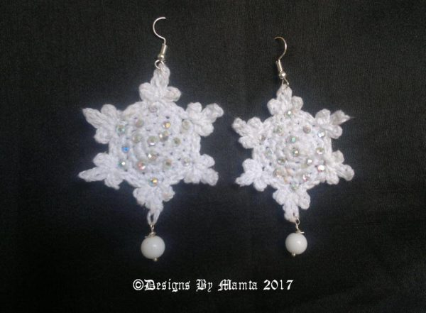 Crochet Snowflake Earrings Pattern