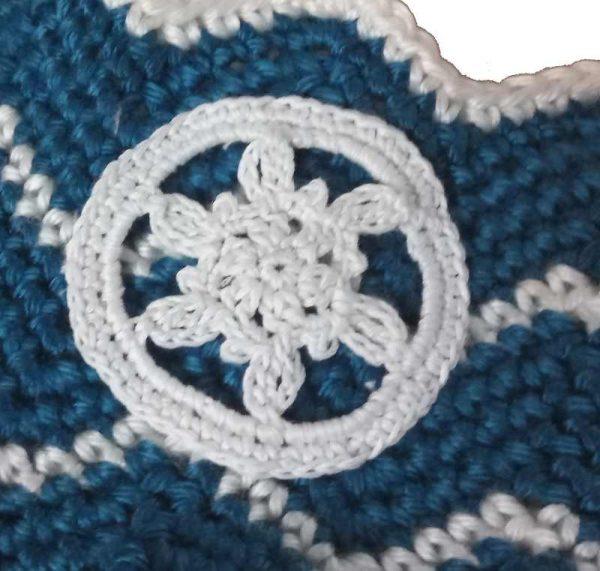 Crochet Snowflake Moon Applique