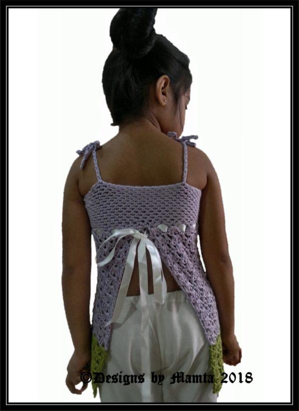 Crochet Split Back Top Pattern