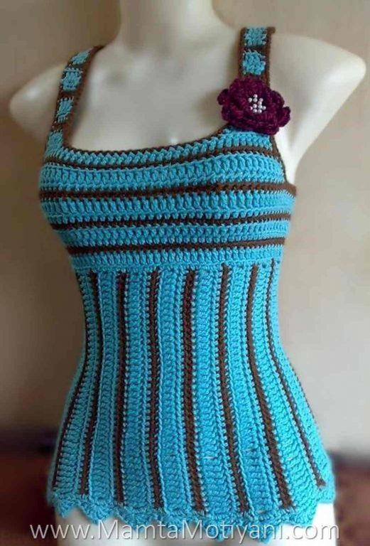 Crochet Tank Top Pattern 39 Turquoise Delight 39 Designer