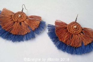 Crochet Tassel Fan Earrings