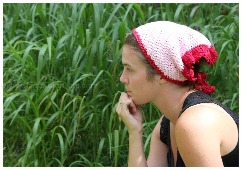 Mumtaz Crochet Head Scarf Pattern A Triangular Kerchief For Women
