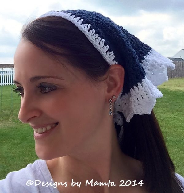 Crochet Triangular Head Scarf Pattern