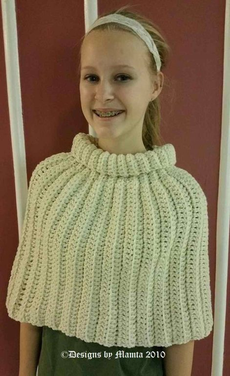 Crochet Poncho Pattern | An Easy Designer Turtleneck Capelet