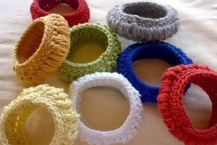 Crochet Tyre Bangle Bracelet Pattern
