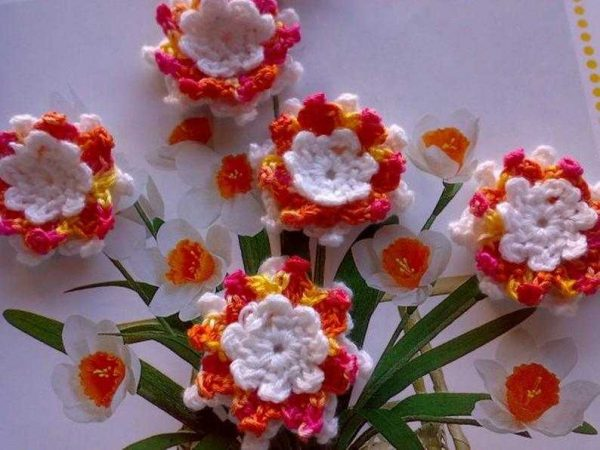 Crochet Water Lily Flowers