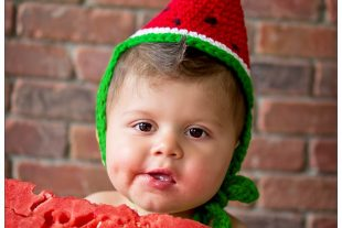 Crochet Watermelon Wedge Party Hat Pattern