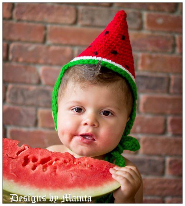Crochet Watermelon Wedge Party Hat Pattern