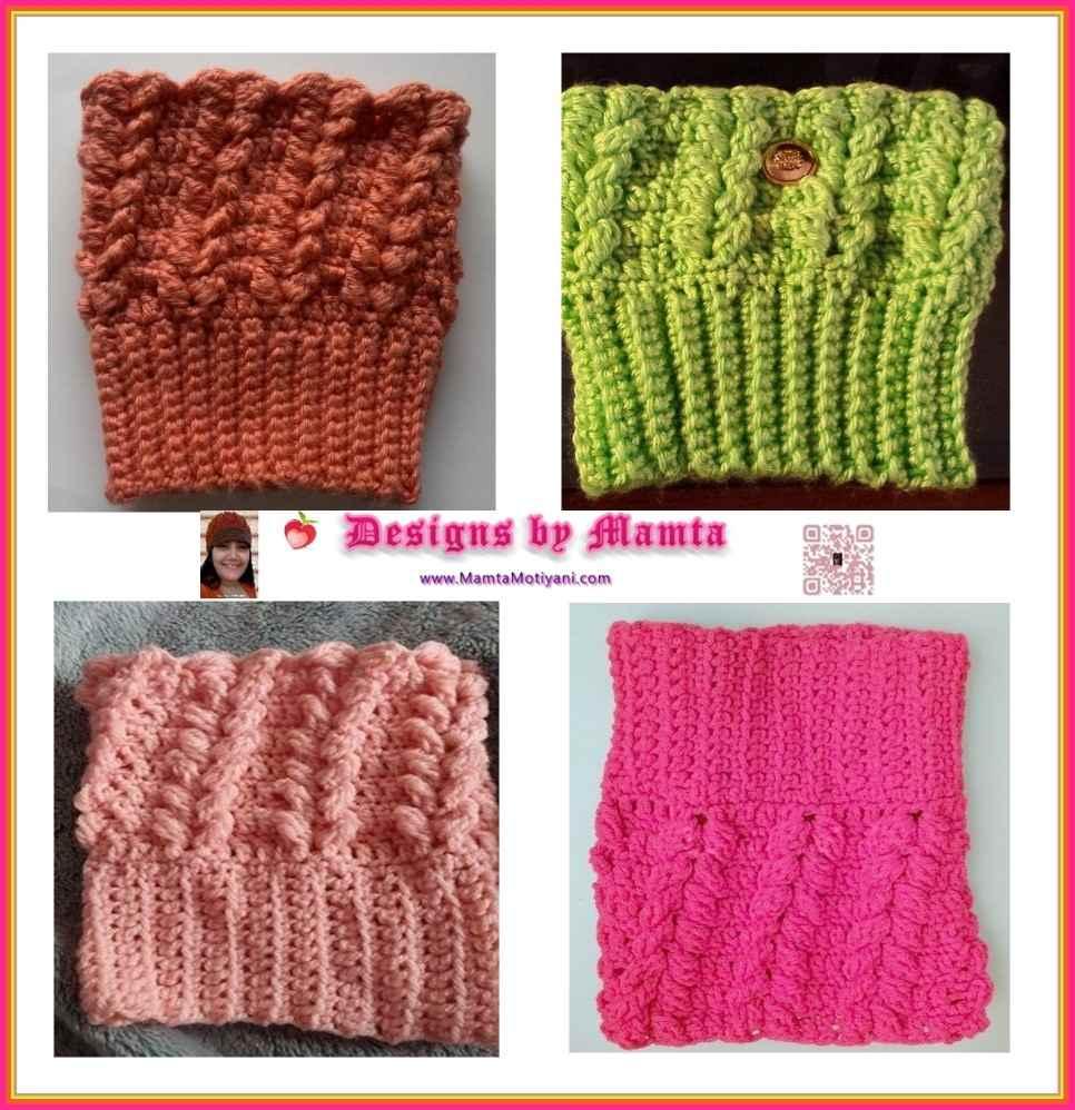 Braided Boot Cuff Pattern   Modern & Unique Crochet Patterns For Women