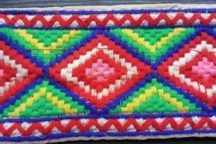 Diamond Shaped Embroidered Trim