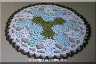 Earth Mandala Crochet Doily Rug Pattern
