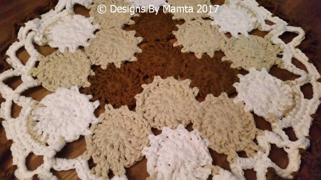 Earth Mandala Crochet Doily Rug Pattern Cool Crochet Patterns
