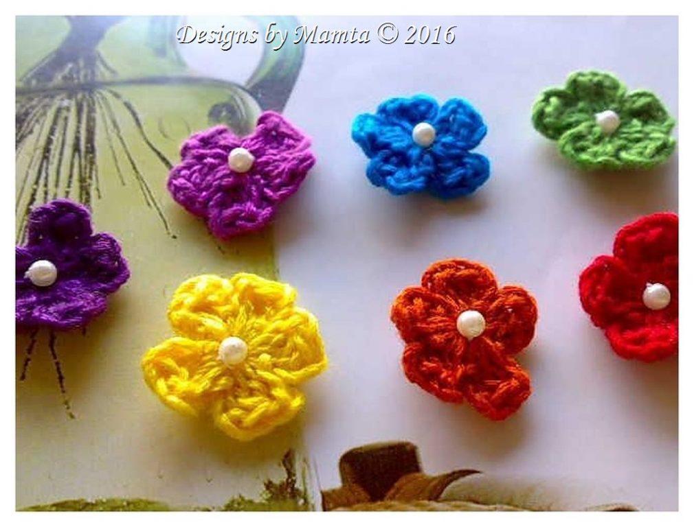 Cherry Blossom Flower Crochet Pattern Crochet Applique Embellishment