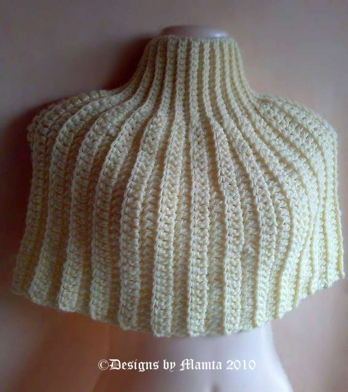 Crochet Poncho Pattern An Easy Designer Turtleneck Capelet