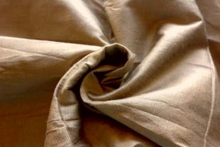 Ecru Brown Silk Fabric