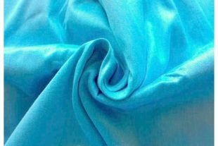 Electric Blue Indian Art Silk Fabric