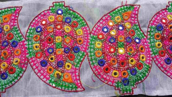 Embroidered Mirrorwork Trim