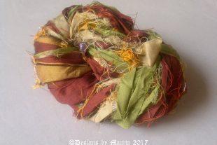 Fall Inspired Silk Sari Ribbon